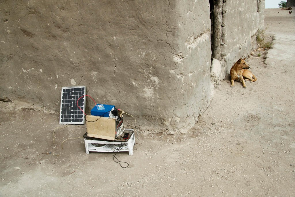 A photo of mine of a solar charging system from Namibia.